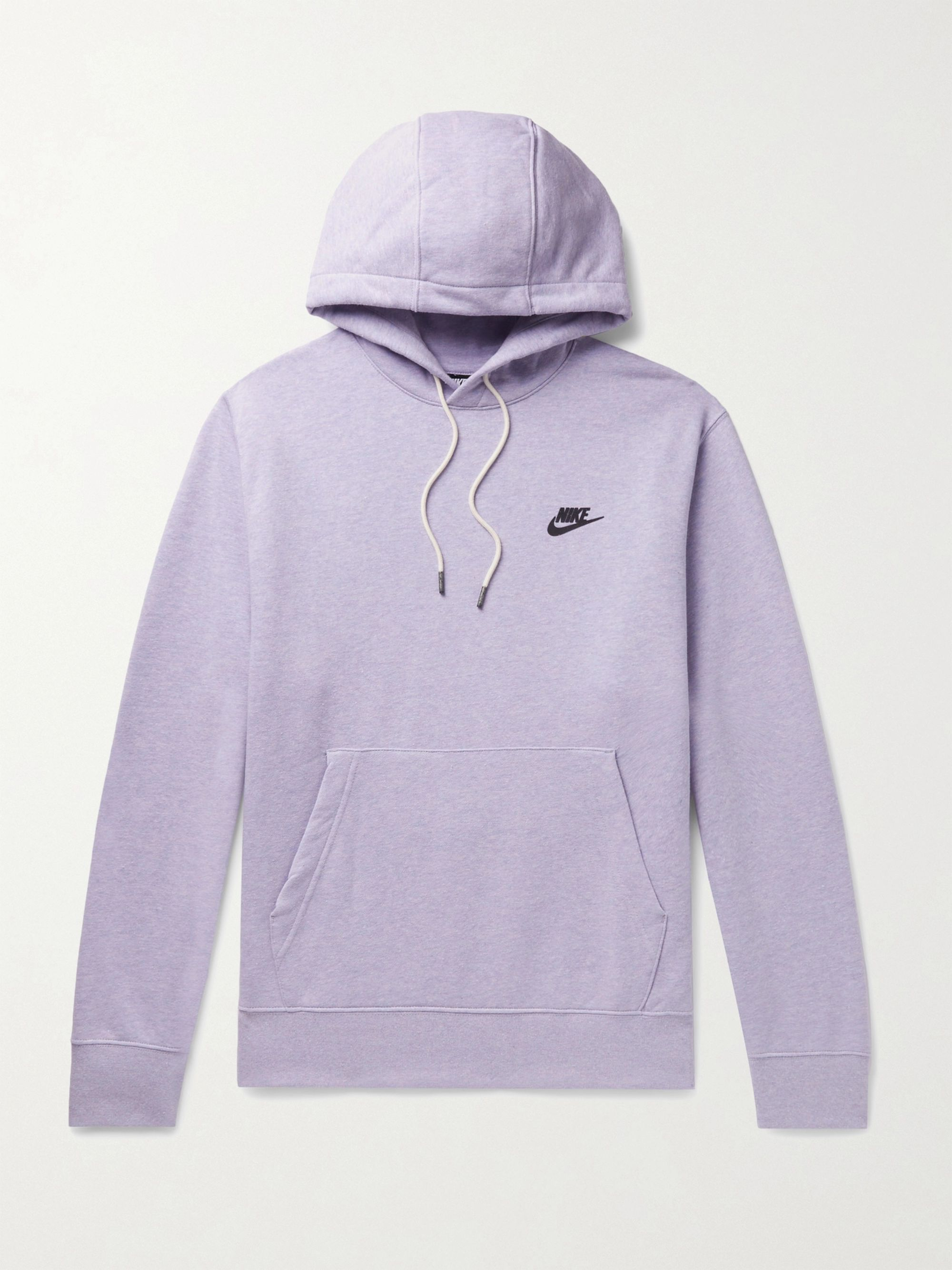 NIKE Logo-Print Cotton-Blend Jersey Hoodie