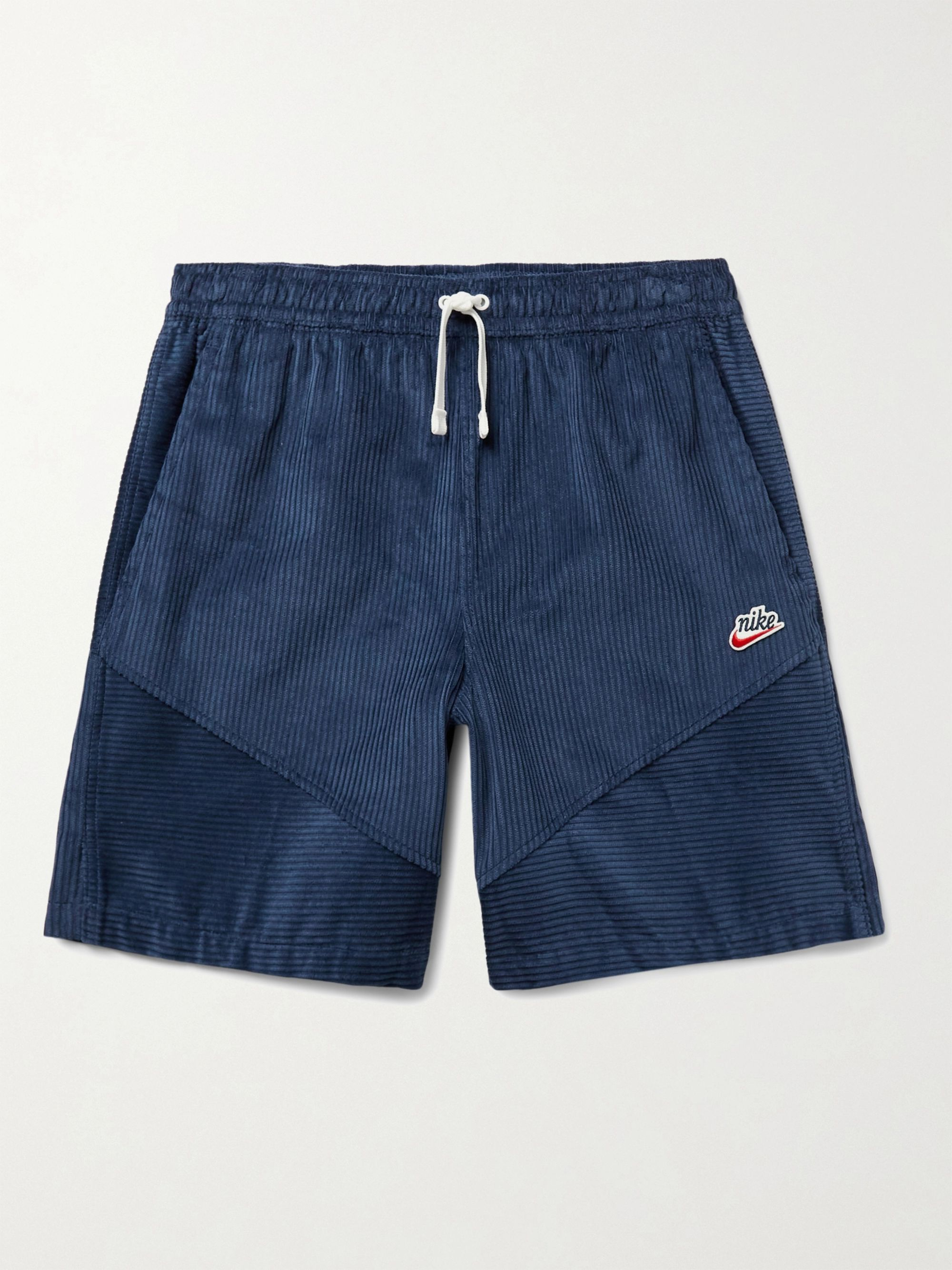 NIKE Sportswear Heritage Windrunner Wide-Leg Cotton-Corduroy Drawstring Shorts