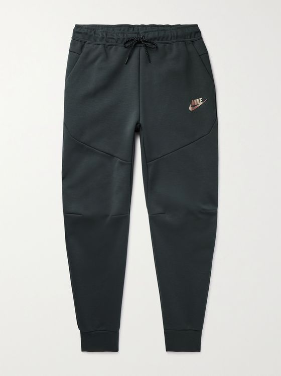 NIKE Sportswear Tapered Iridescent Logo-Print Tech Fleece Sweatpants