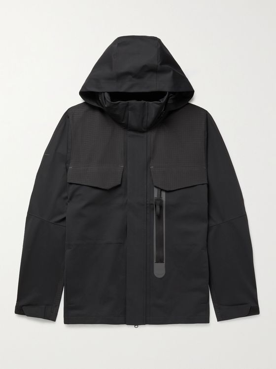 NIKE Sportswear Tech Pack Nylon-Blend Gabardine and Ripstop Hooded Jacket