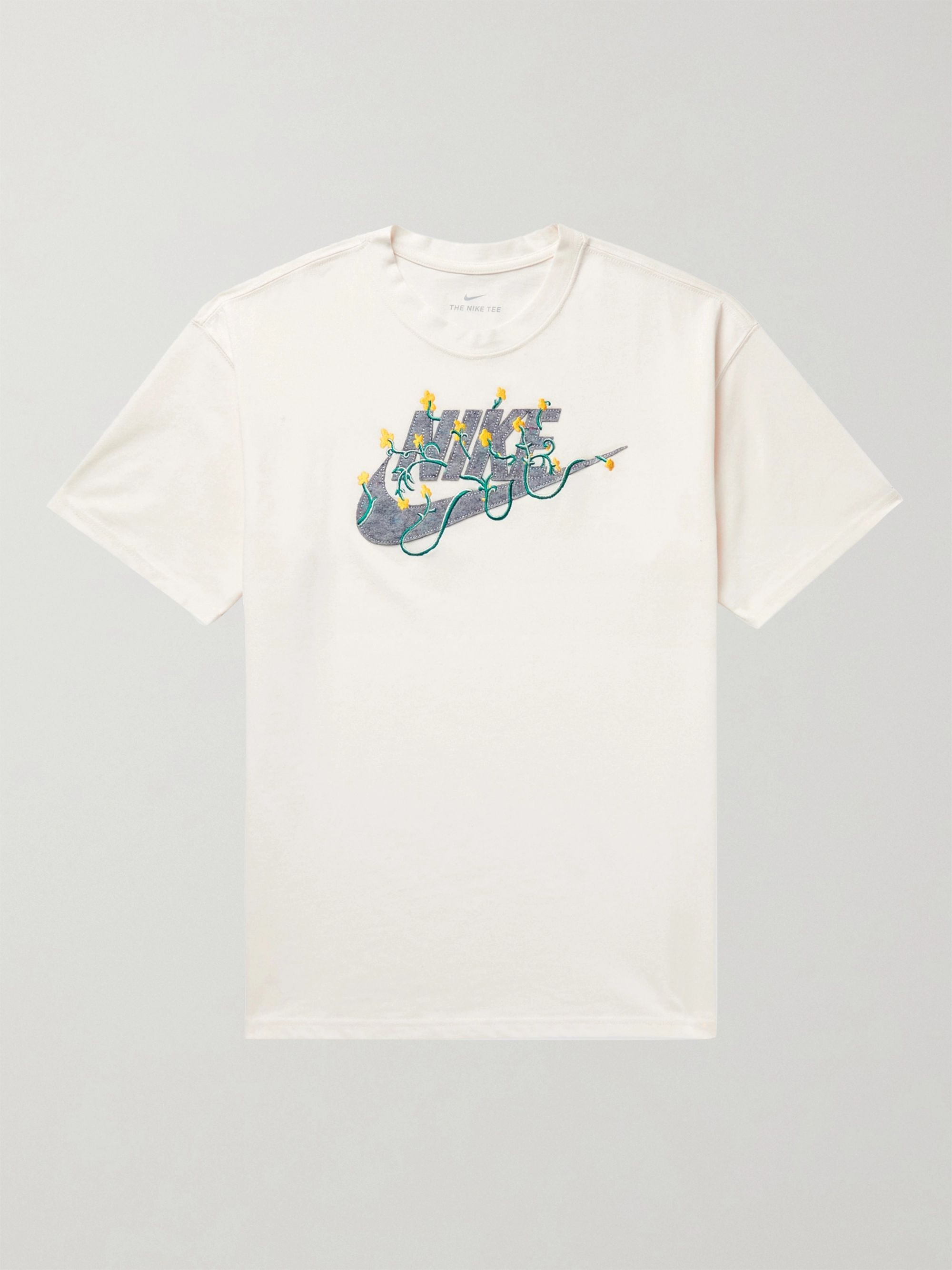 NIKE Sportswear Logo-Appliqued Embroidered Cotton-Blend Jersey T-Shirt