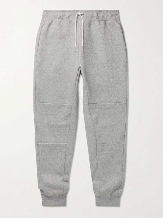 NIKE Slim-Fit Tapered Mélange Tech Fleece Sweatpants