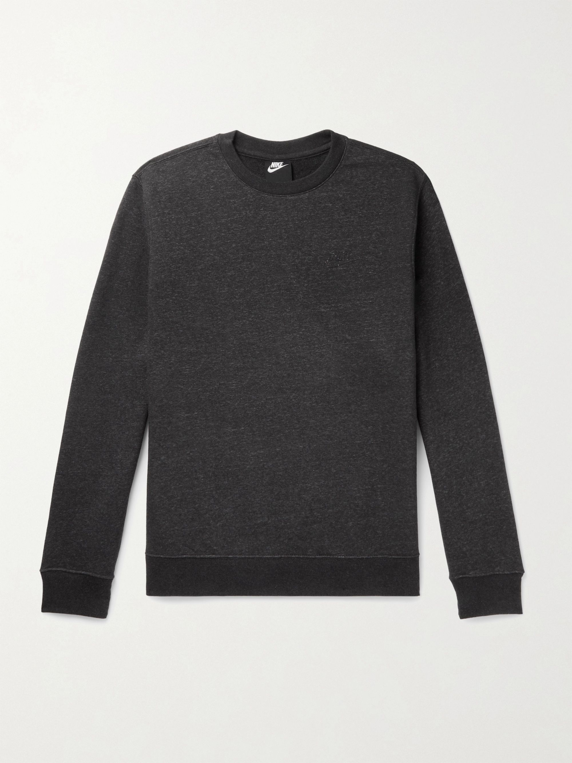 NIKE Logo-Detailed Cotton-Blend Jersey Sweatshirt