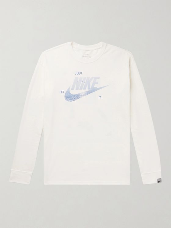 NIKE Logo-Print Recycled Cotton-Blend Jersey T-Shirt