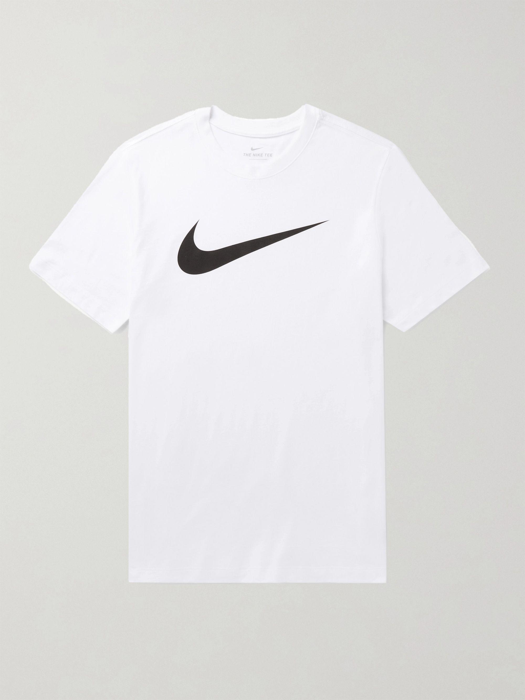 NIKE Logo-Print Cotton-Jersey T-Shirt