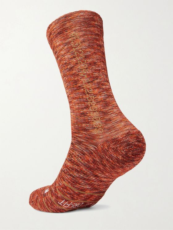 NIKE ACG Kelley Ridge Mélange Ribbed-Knit Socks