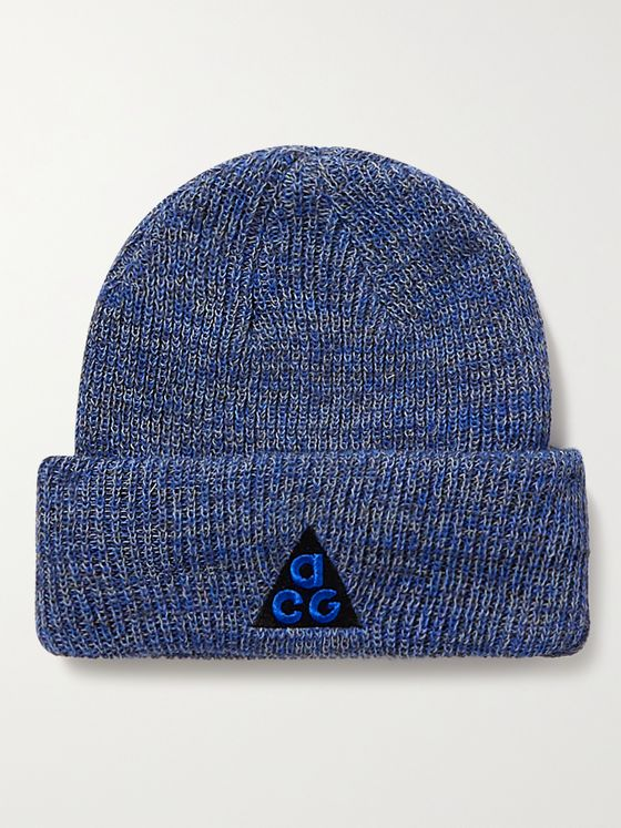 NIKE ACG 3-in-1 Logo-Embroidered Appliquéd Mélange Knitted Beanie