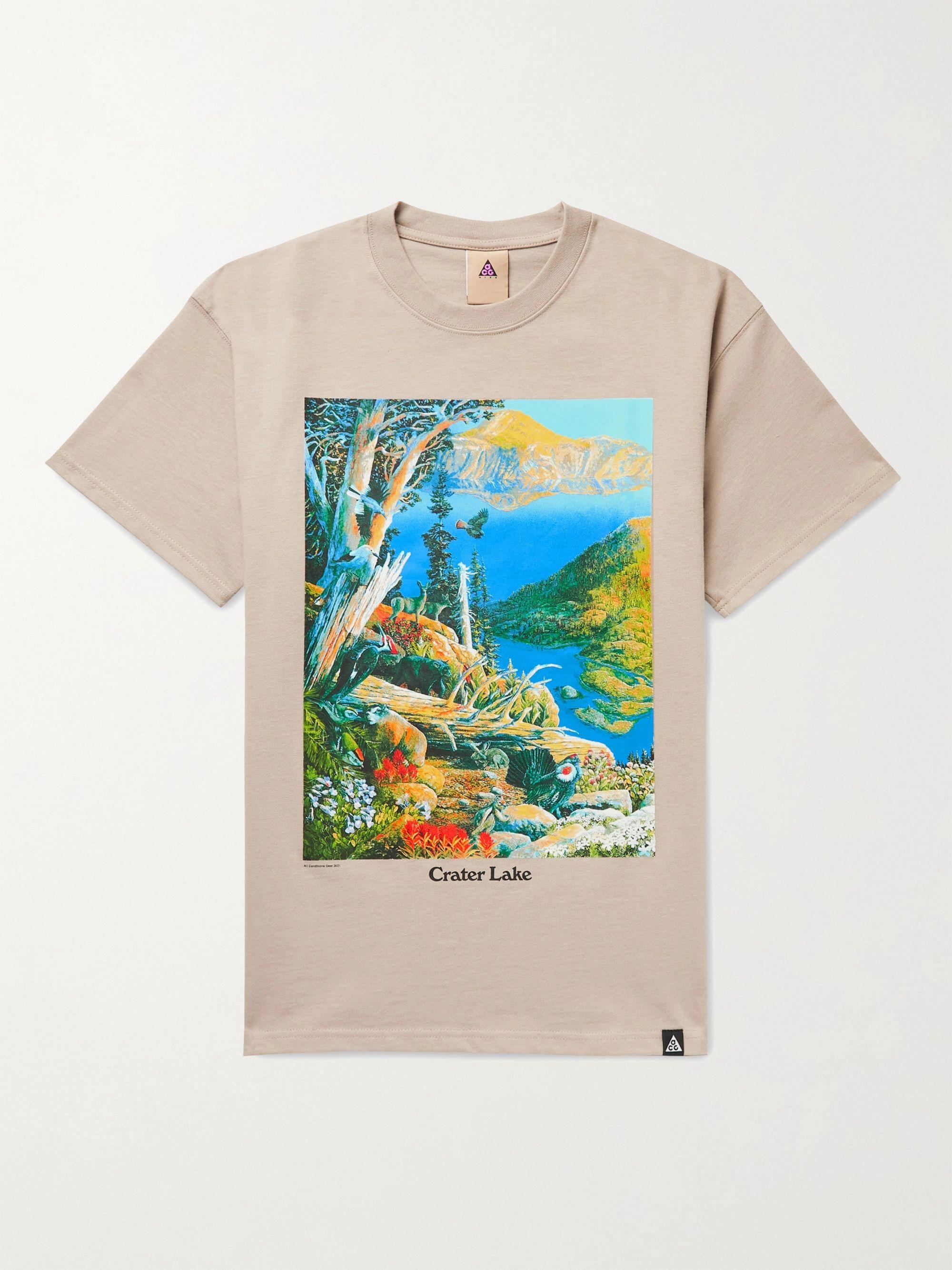 NIKE ACG NRG Crater Lake Printed Cotton-Jersey T-Shirt