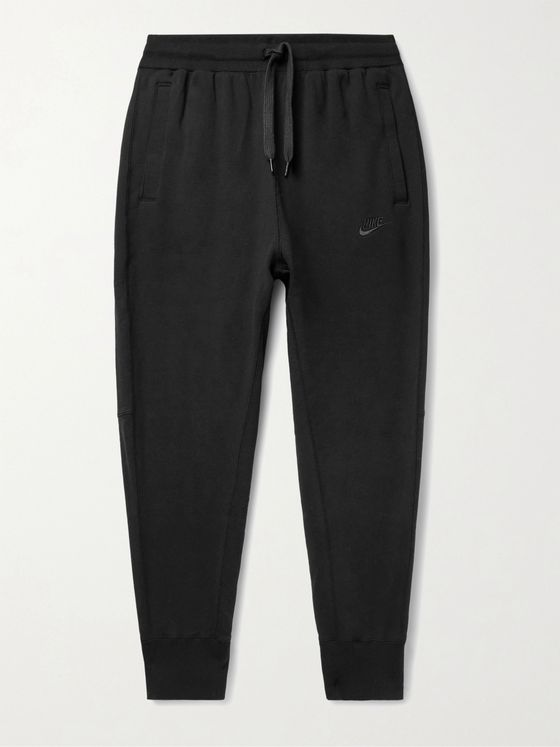 NIKE Sportswear Tapered Logo-Embroidered Loopback Cotton-Jersey Sweatpants