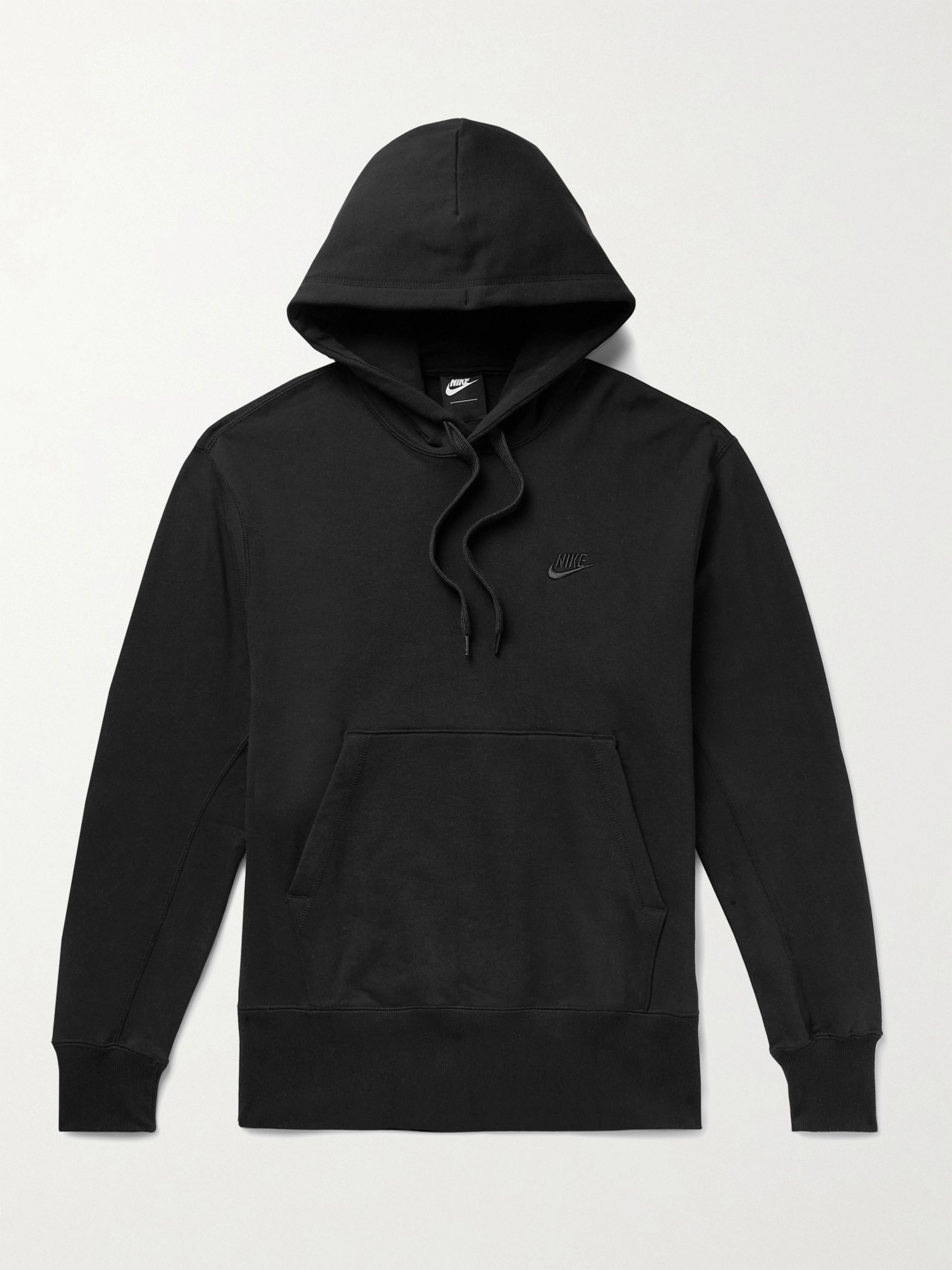 NIKE Sportswear Logo-Embroidered Loopback Cotton-Jersey Hoodie