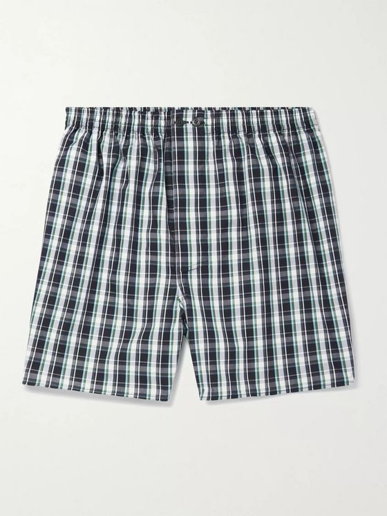 ZIMMERLI Checked Cotton Boxer Shorts