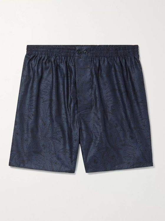 ZIMMERLI Cotton-Jacquard Boxer Shorts