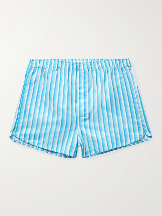 DEREK ROSE Wellington 51 Striped Boxer Shorts