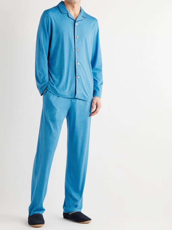 DEREK ROSE Stretch Micro Modal Jersey Pyjama Set