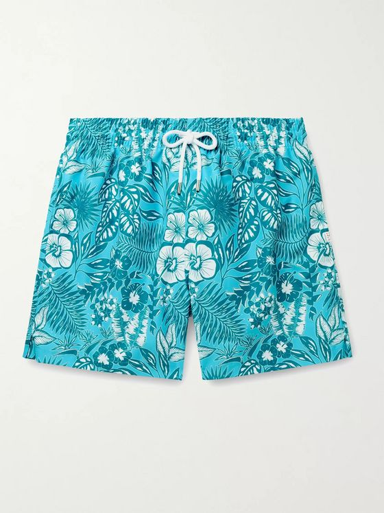 DEREK ROSE Maui 34 Mid-Length Printed Swim Shorts