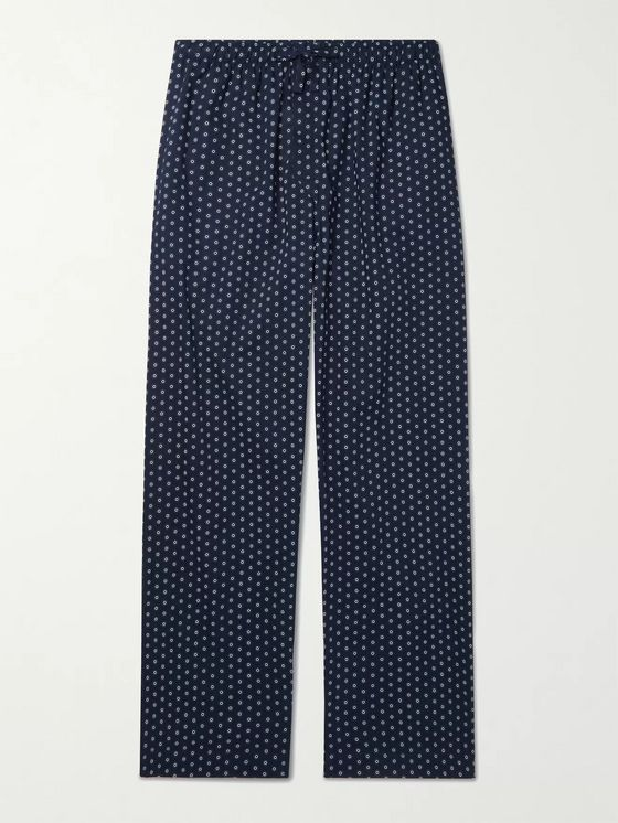 DEREK ROSE Printed Cotton-Voile Pyjama Trousers