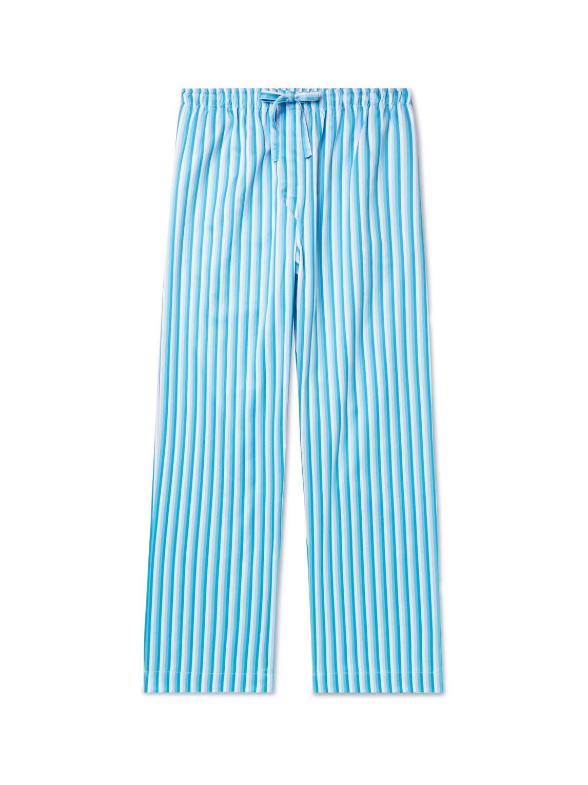 derek rose - striped cotton-poplin pyjama trousers - men - blue - xl