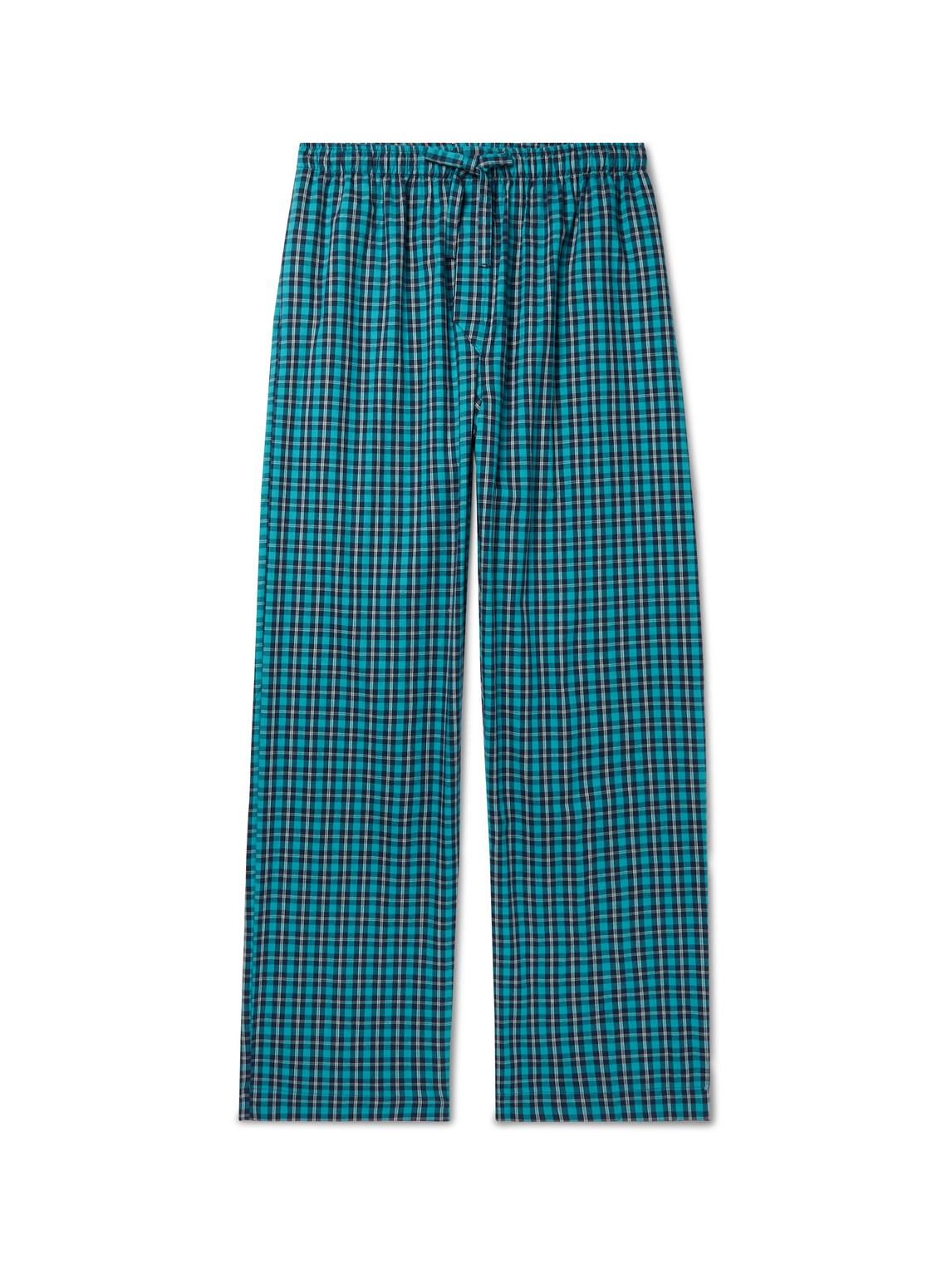 derek rose - checked brushed cotton-twill pyjama trousers - men - multi - xxl