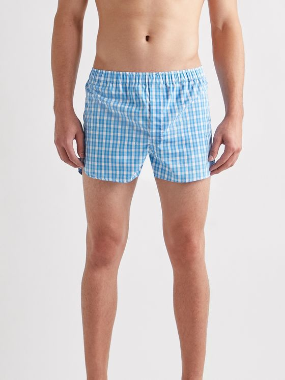 DEREK ROSE Barker 29 Checked Cotton Boxer Shorts