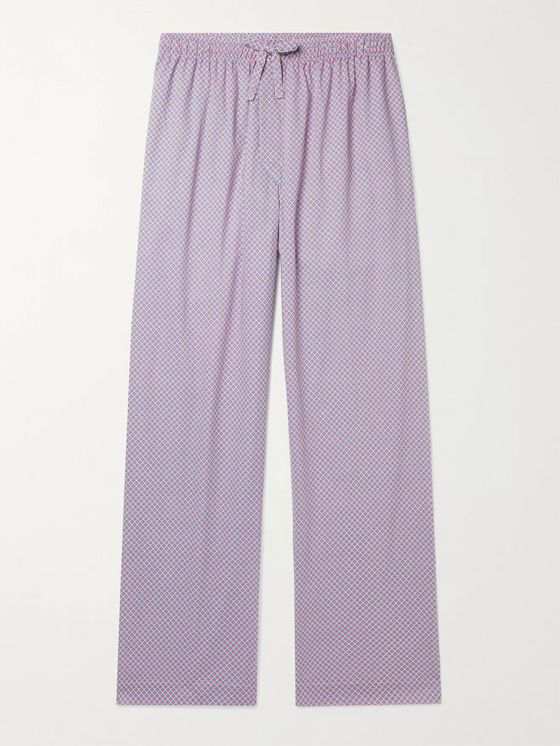 DEREK ROSE Printed Cotton-Poplin Pyjama Trousers