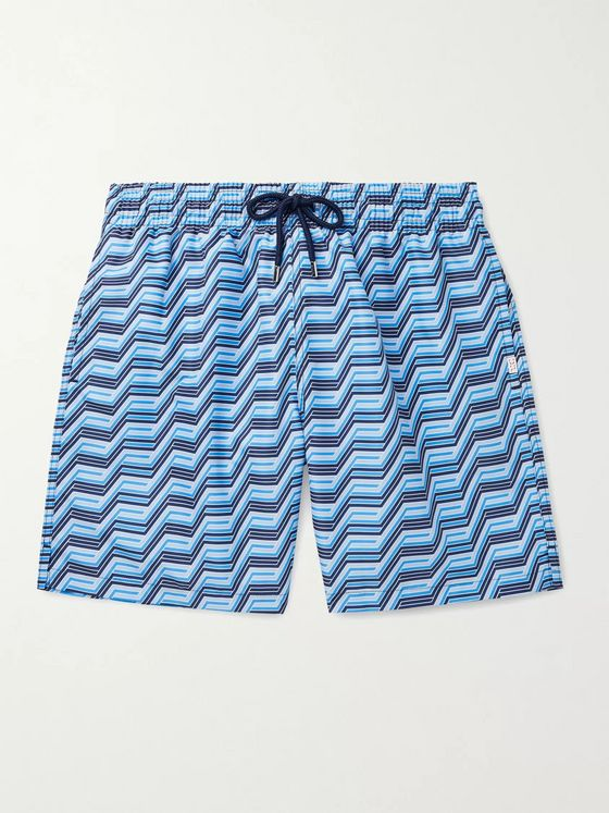 DEREK ROSE Tropez 9 Mid-Length Printed Swim Shorts