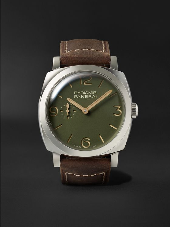 PANERAI Radiomir Automatic 45mm Stainless Steel and Leather Watch, Ref. No. PAM00995