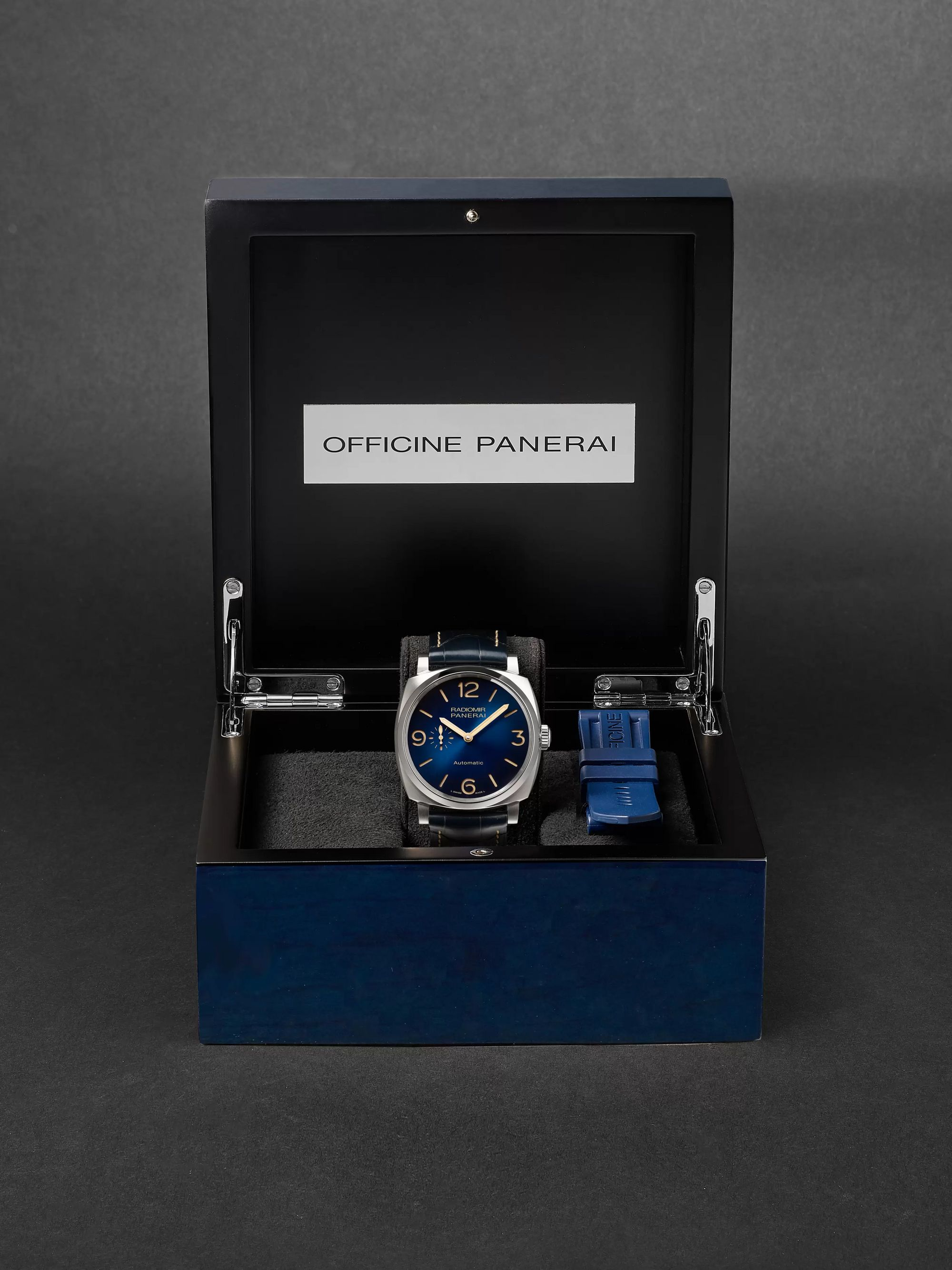 PANERAI Radiomir Mediterraneo Automatic 44mm Titanium and Alligator Watch, Ref. No. PAM01078