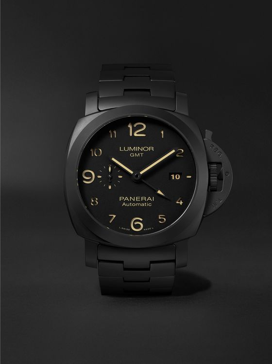PANERAI Luminor Tuttonero GMT Automatic 44mm Ceramic Watch, Ref. No. PAM01438