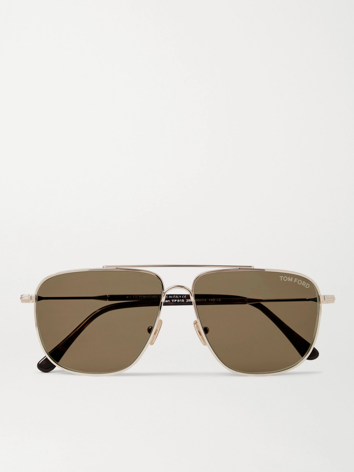 Tom Ford Aviator-style Gold-tone And Tortoiseshell Acetate Sunglasses