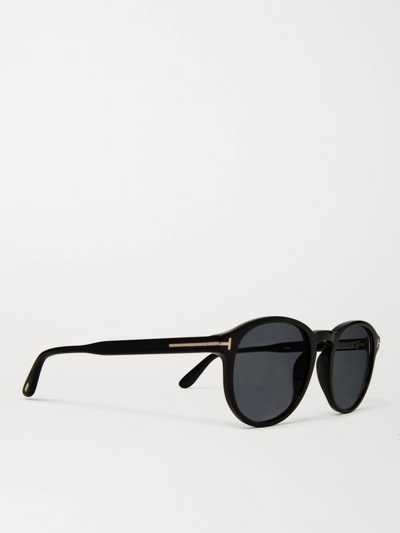 TOM FORD Dante Round-Frame Acetate Sunglasses