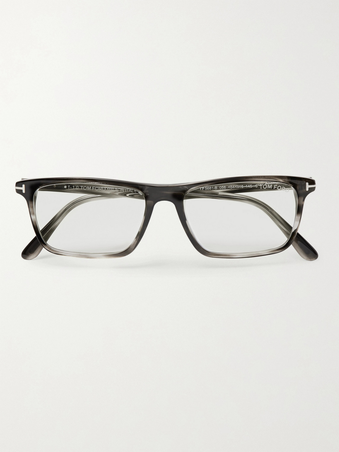 Tom Ford Square-frame Acetate Optical Glasses In Gray
