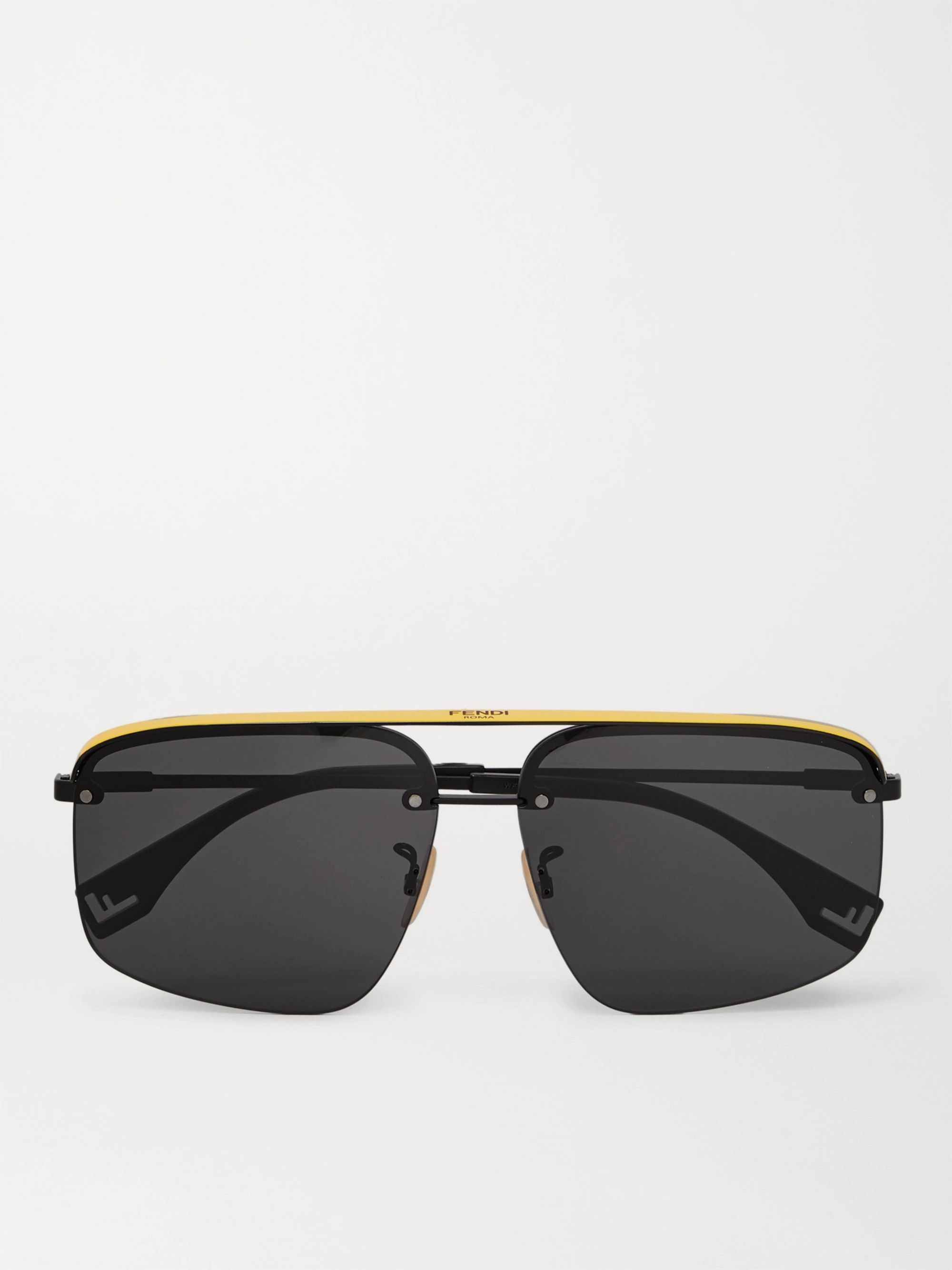 Fendi Aviator-Style Metal and Acetate Sunglasses