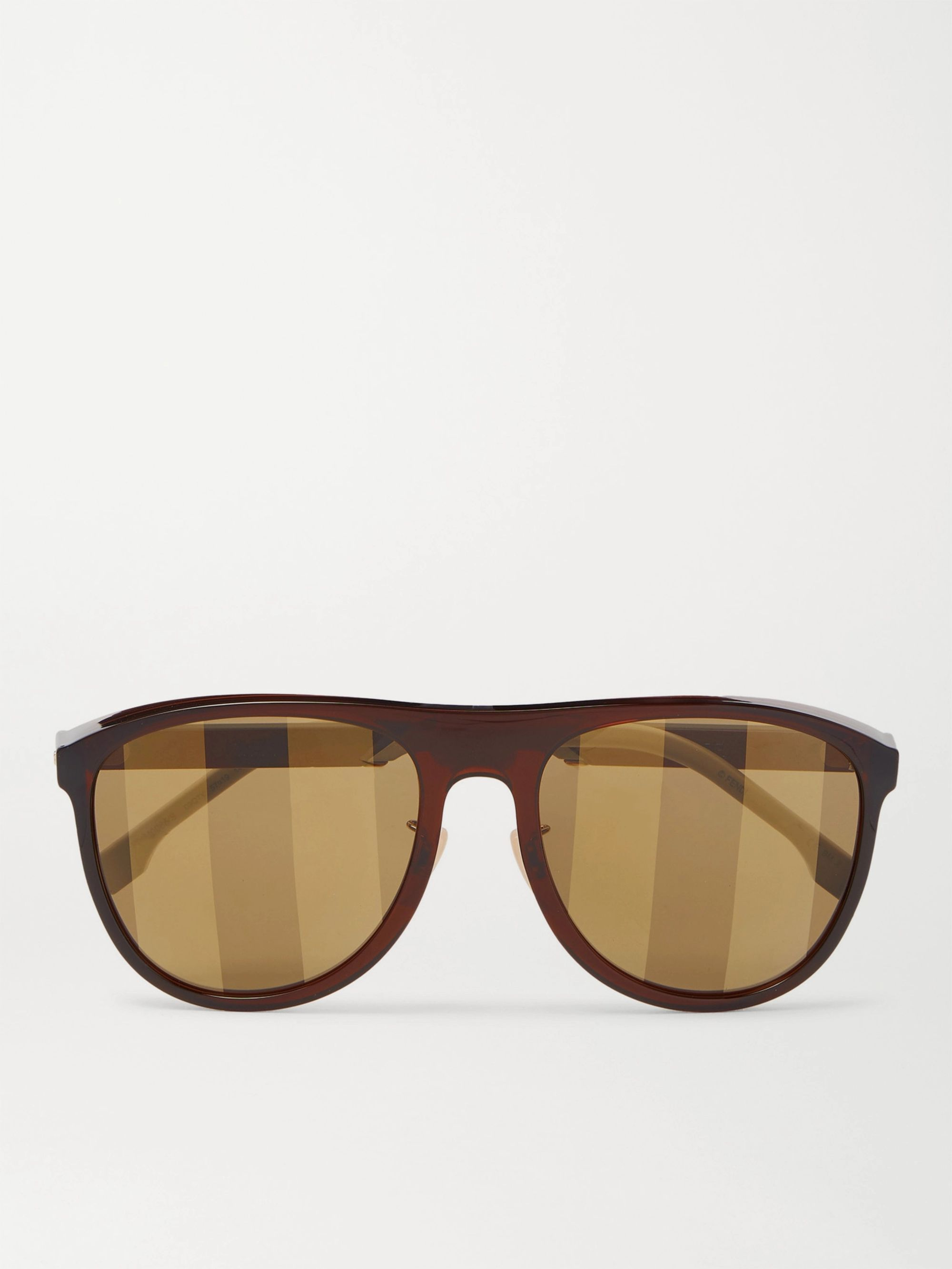 Fendi D-Frame Acetate and Gold-Tone Sunglasses