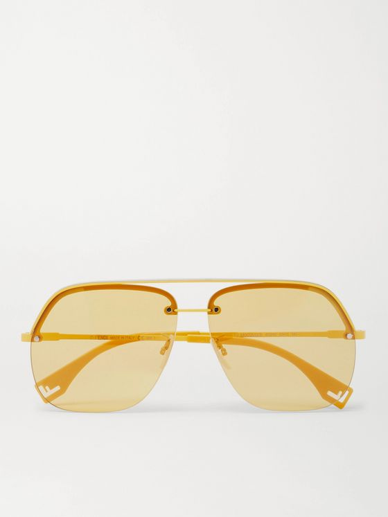 FENDI Square-Frame Metal and Acetate Sunglasses