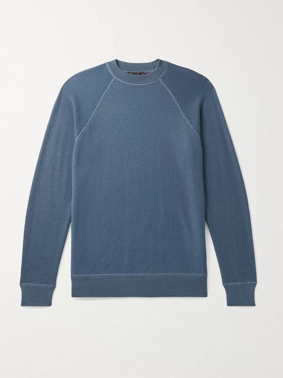 LORO PIANA Ribbed Cashmere and Silk-Blend Sweater
