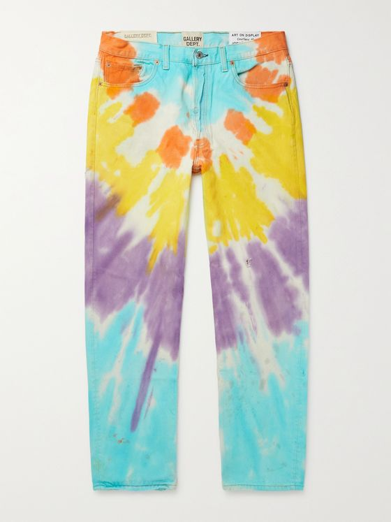 Gallery Dept. Marley Distressed Tie-Dyed Denim Jeans