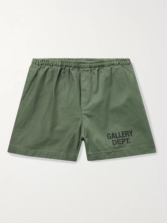 Gallery Dept. Zuma Logo-Print Cotton-Canvas Shorts