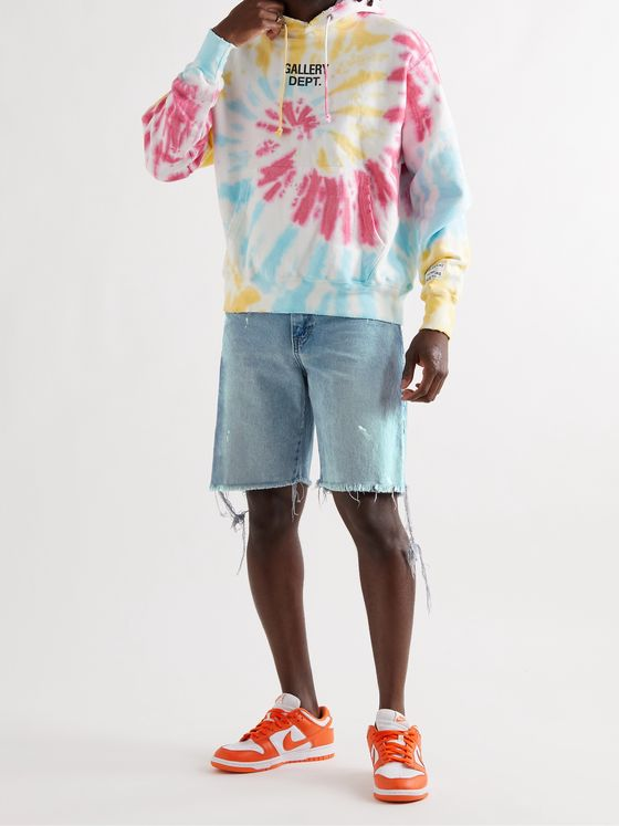 Gallery Dept. Carpenter Paint-Splattered Distressed Denim Shorts