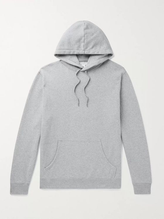 SUNSPEL Melangé Loopback Cotton-Jersey Hoodie