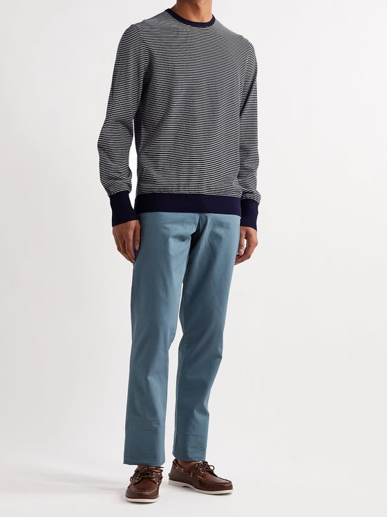 Sid Mashburn Striped Cotton Sweater