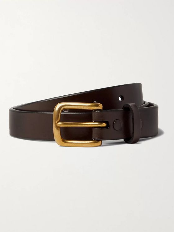 SID MASHBURN 2.5cm Leather Belt