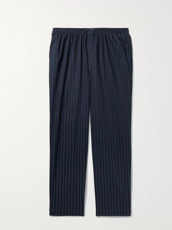 Sunspel Striped Cotton Pyjama Trousers