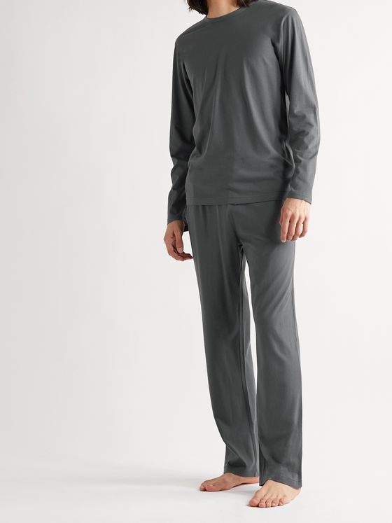 SUNSPEL Lounge Cotton and Modal-Blend Jersey Pyjama Trousers