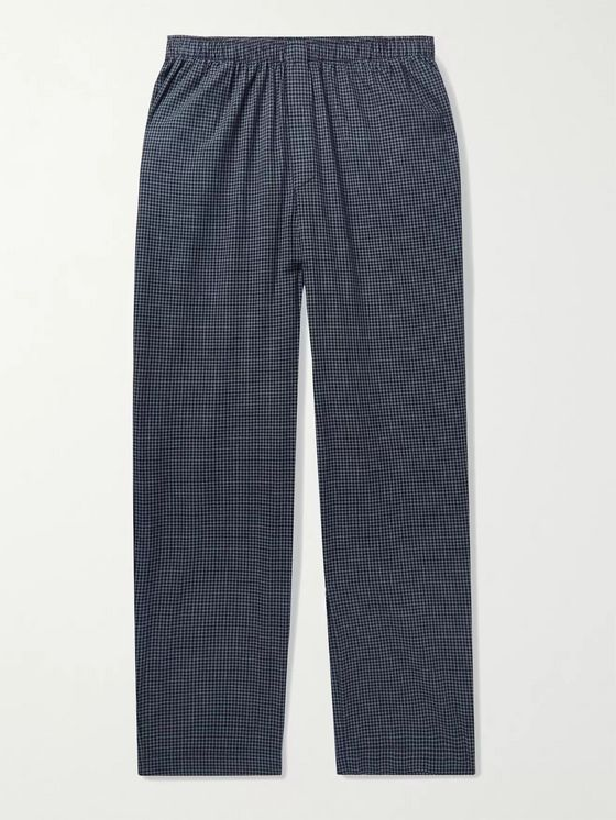 Sunspel Checked Cotton Pyjama Trousers
