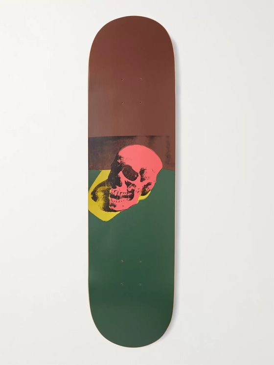 THE SKATEROOM + Andy Warhol Skull Series Printed Wooden Skateboard