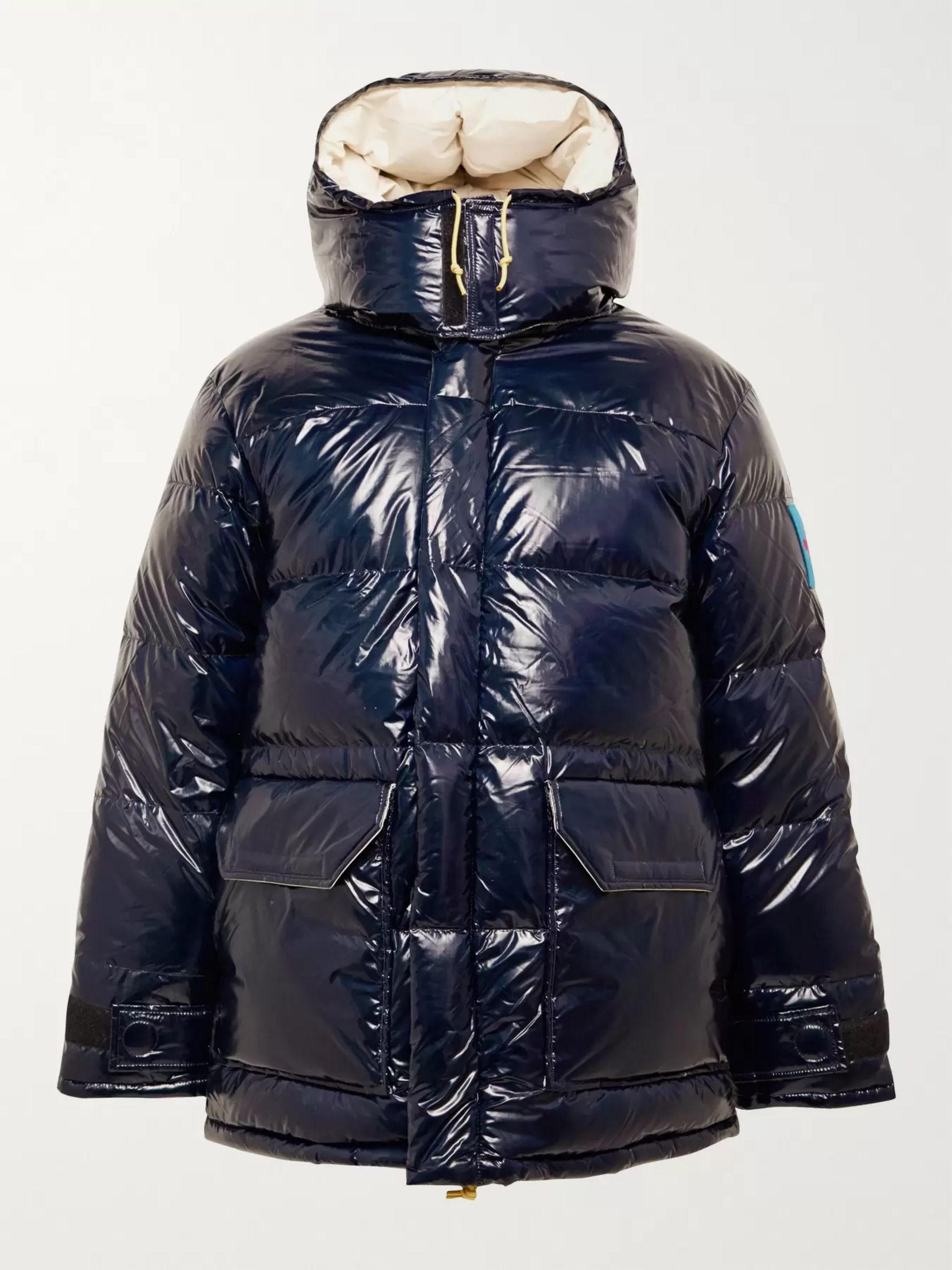 The North Face Logo-Appliqued Quilted Coated-Nylon Hooded Down Jacket
