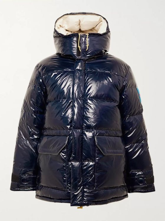 The North Face Logo-Appliquéd Quilted Coated-Nylon Hooded Down Jacket