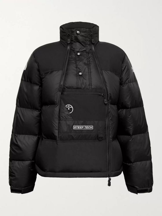 THE NORTH FACE Steep Tech Twill-Panelled Printed Quilted Nylon-Ripstop Hooded Down Jacket