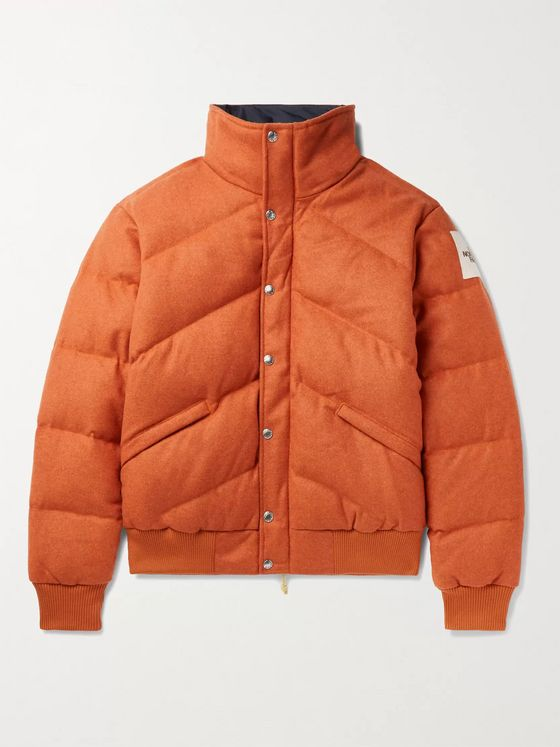 The North Face Larkspur Quilted Brushed Wool-Blend Down Jacket