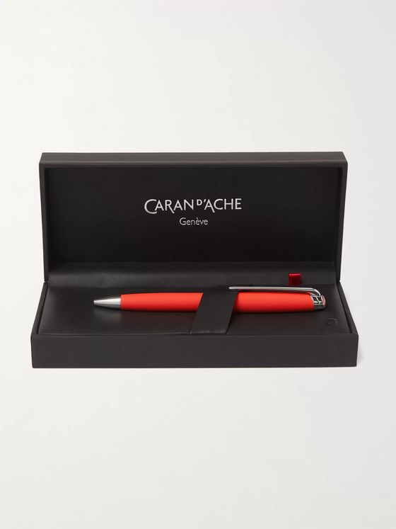 Caran d'Ache Léman Rhodium and Silver-Coated Lacquered Ballpoint Pen